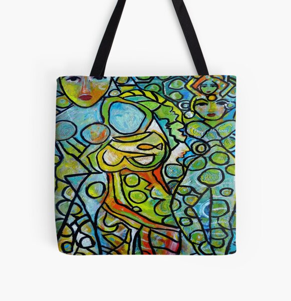 Green Goddesses All Over Print Tote Bag