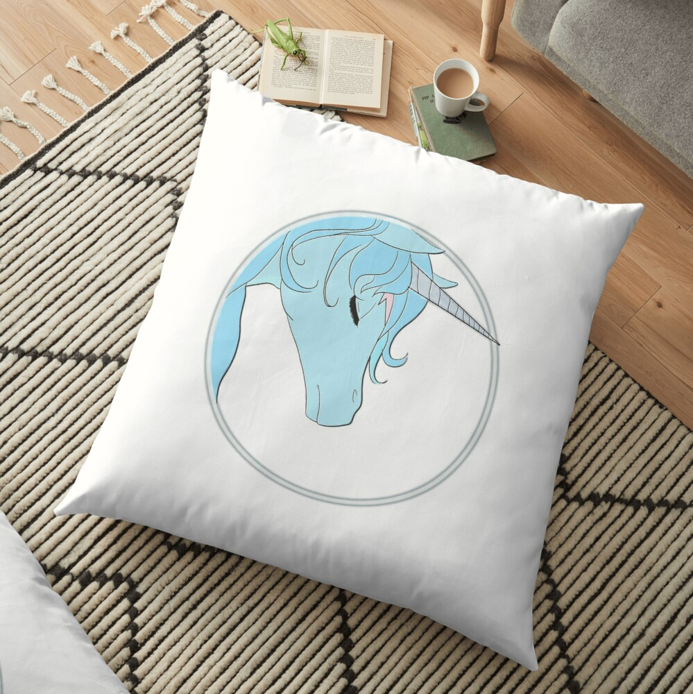 The Last Unicorn Floor Pillow