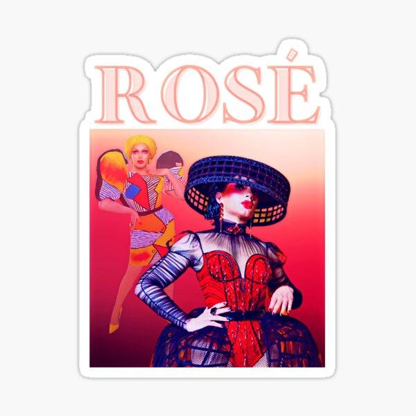 Rosa de inspiración retro de la temporada 13 de RuPaul's Drag Race Pegatina