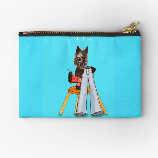 Scottish Terrier Realizes his Legs are too short for the Pants!  Zipper Pouch