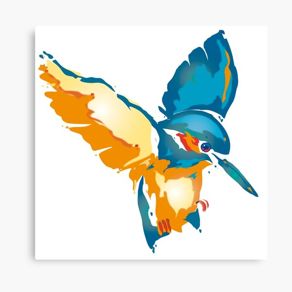 Little Baby - Kingfisher Canvas Print