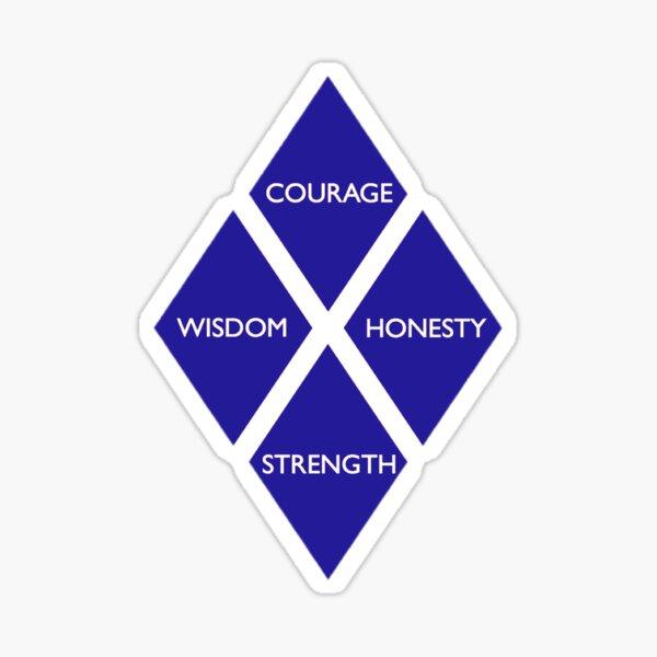 Four Diamonds Sticker