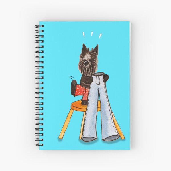 Scottish Terrier Realizes his Legs are too short for the Pants!  Spiral Notebook