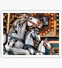 Vintage Horse Carousel Merry-Go-Round Carnival Ride  Sticker