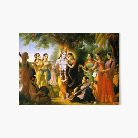 Krishna and Radha Art Board Print