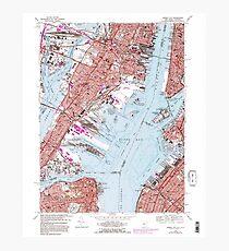 USGS TOPO Map New Jersey NJ Jersey City 254503 1967 24000 Photographic Print