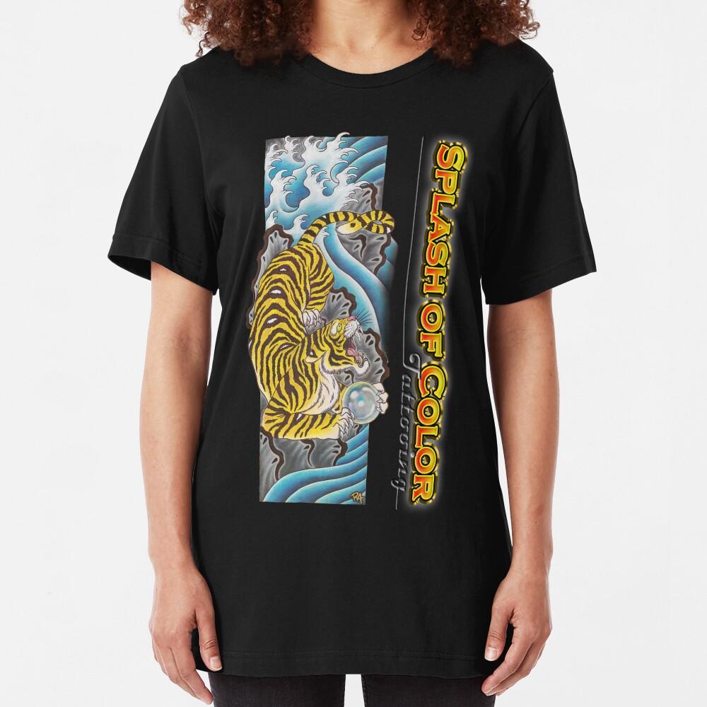 Splash of Color - Tiger Slim Fit T-Shirt