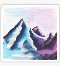 misty mountain Sticker