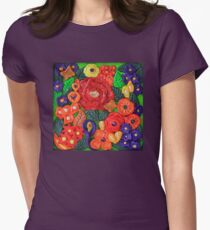 Flowers in Polymer Clay Womens Fitted T-Shirt