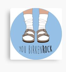 Birken-rock Canvas Print