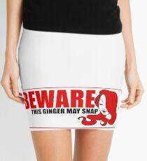 Beware This Ginger May Snap Mini Skirt