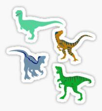 Delta the Raptor Silhouette Sticker