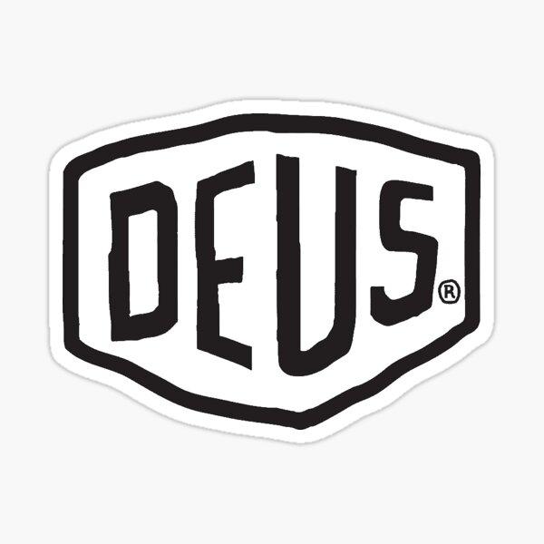 Logo Deus Ex Machina (noir) Sticker