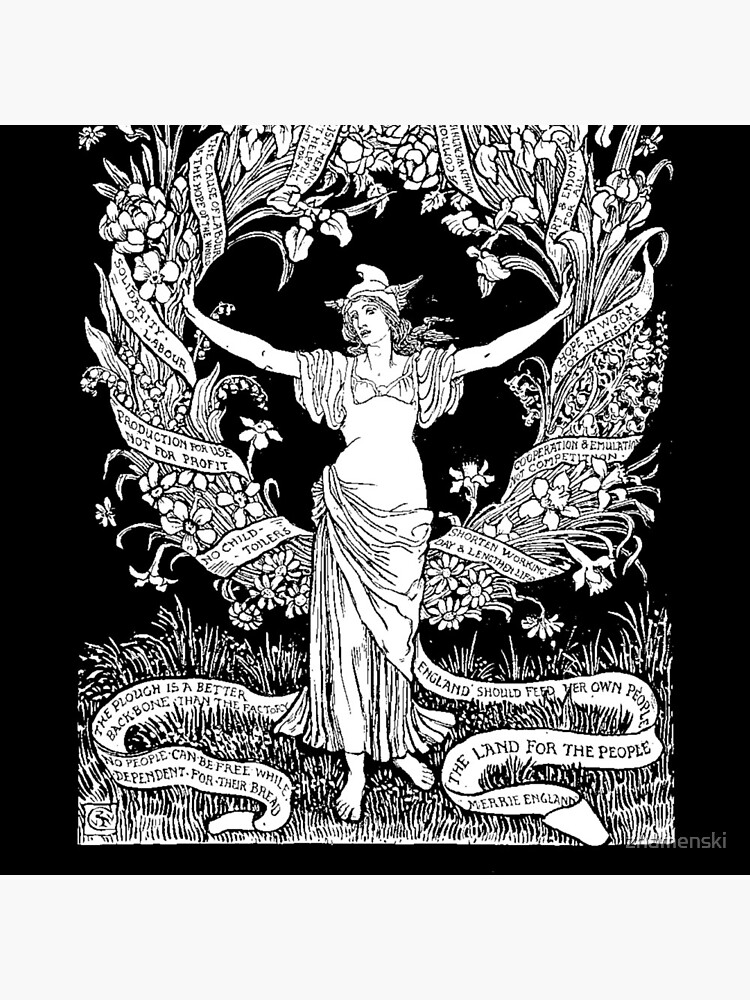 Walter Crane: A Garland for May Day 1895 by znamenski