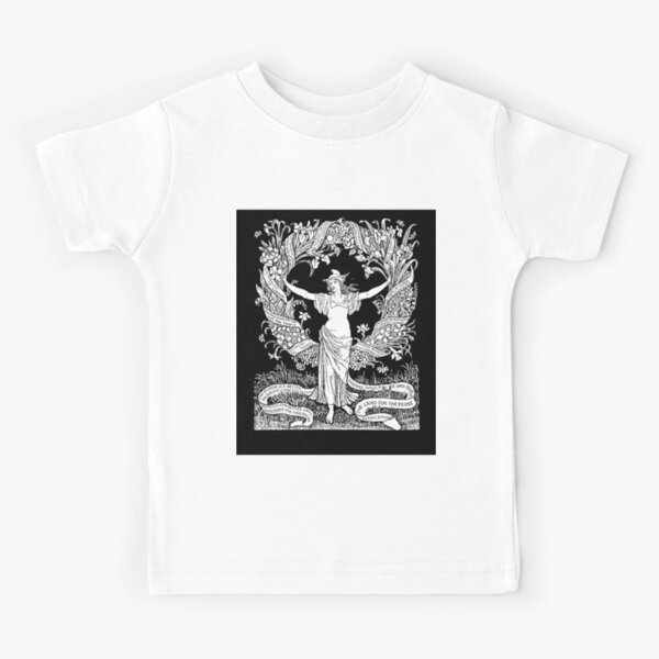 Walter Crane: A Garland for May Day 1895 Kids T-Shirt