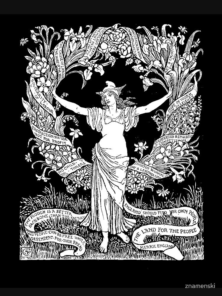 Walter Crane: A Garland for May Day 1895 by znamenski