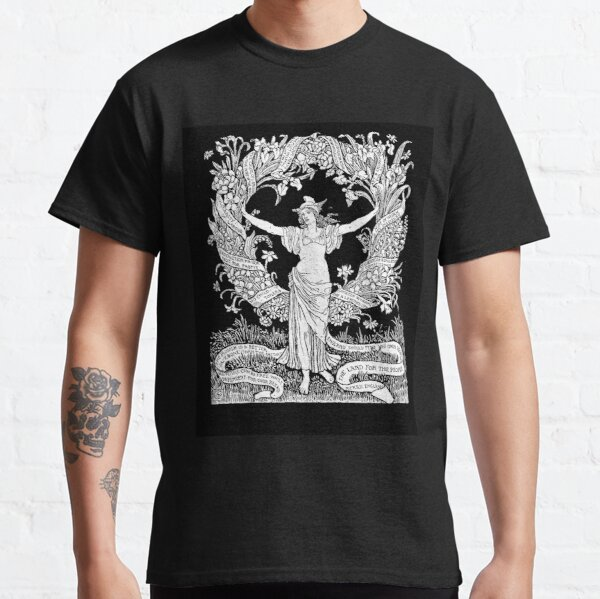 Walter Crane: A Garland for May Day 1895 Classic T-Shirt