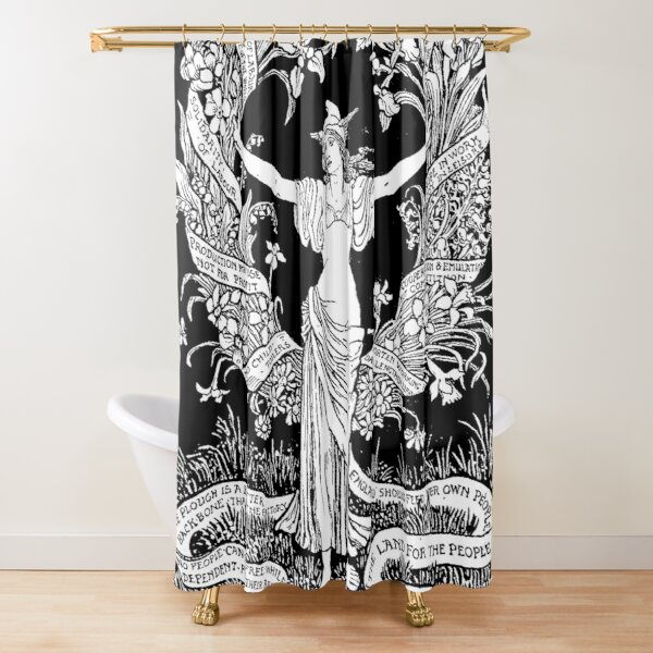 Walter Crane: A Garland for May Day 1895 Shower Curtain