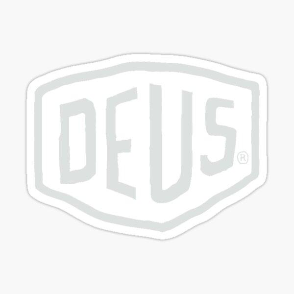 Logo Deus Ex Machina (blanc) Sticker