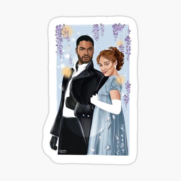 Miss Bridgerton & Duc of Hastings Sticker
