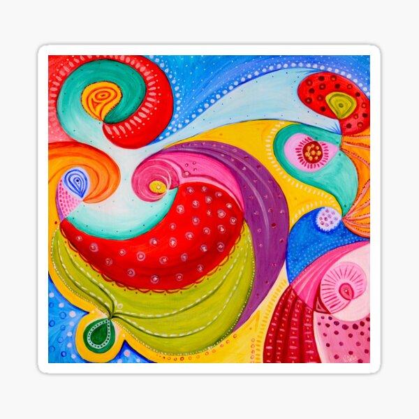 Abstrait coloré Sticker