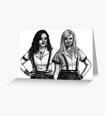 2 Broke Girls Drawing Greeting Card