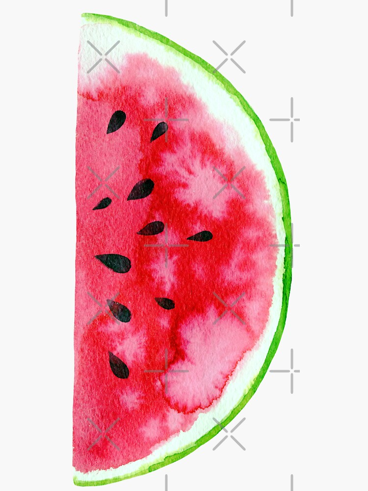 Watercolor watermelon slices  by natakuprova