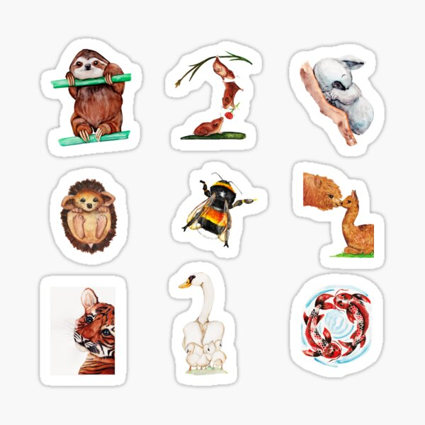Watercolor - Animal collection Sticker