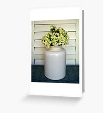 Jonquils in Stone Jar Greeting Card