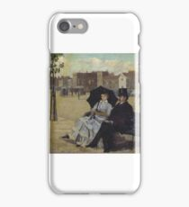 Walter Greaves - Walter Greaves and Alice Greaves on the Embankment  iPhone Case/Skin