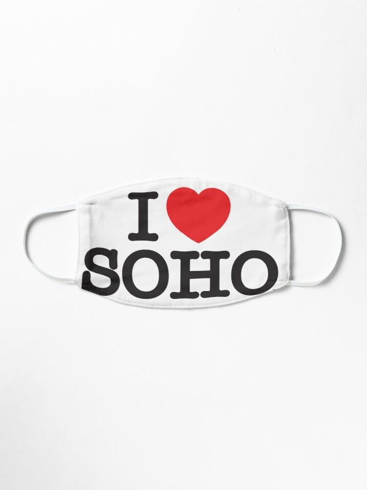 Alternate view of I Love Soho Official Merchandise @ilovesoholondon Mask