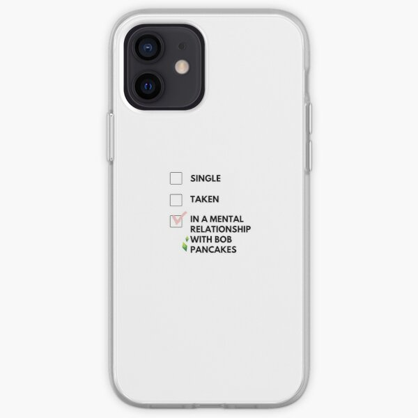 Single, in a relationship, in a mental relationship with Bob Pancakes iPhone Soft Case