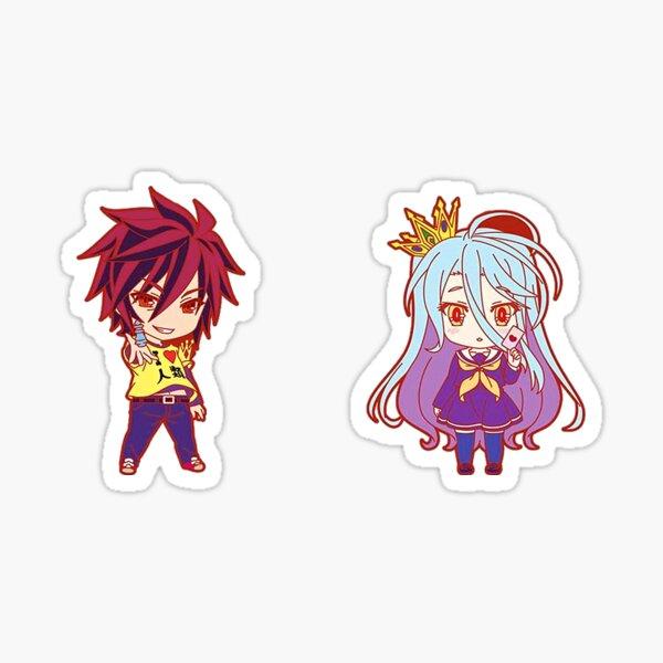 Shiro et Sora de No Game No Life Sticker
