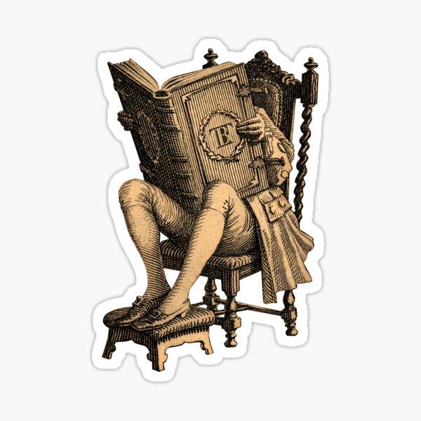 Ex LibrisThe Inveterate Reader Sticker