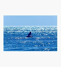 Couple swimming in the Moonlight Photographic Print