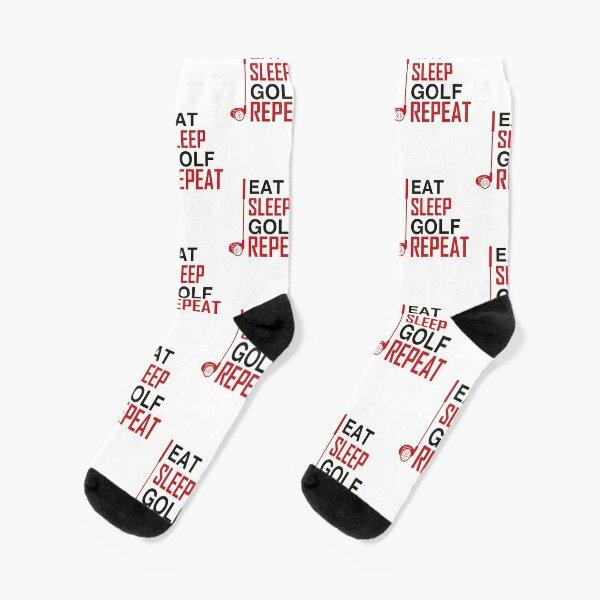 Eat sleep golf repeat Socks
