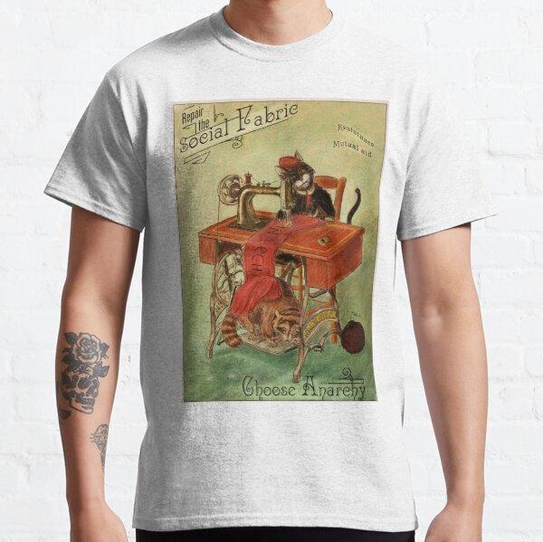 Réparer le tissu social - Anarchie & Chat T-shirt classique