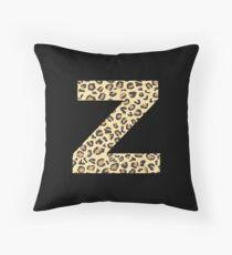 Leopard Z Throw Pillow