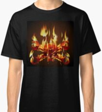 Metal Jolly Roger in flame Classic T-Shirt