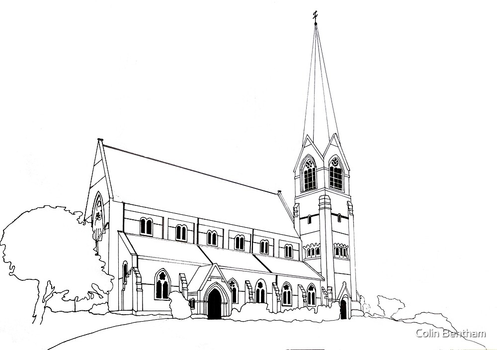 St James outline by Colin Bentham