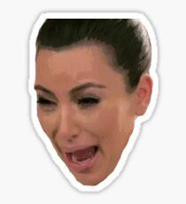 kim k crying Sticker