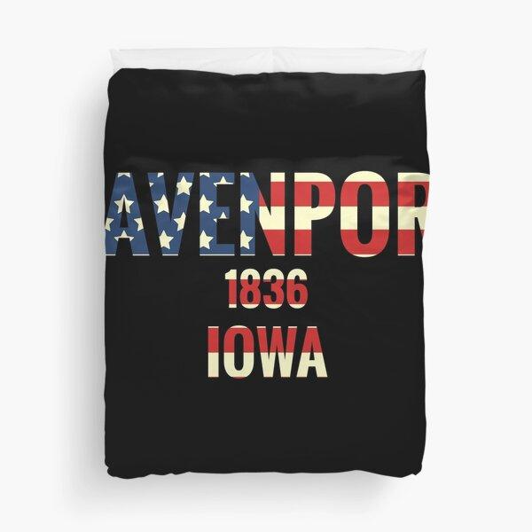 Davenport Iowa Duvet Cover