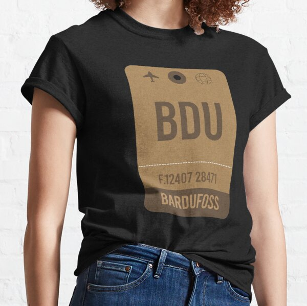 Bardufoss Airport Vintage Luggage Tag Classic T-Shirt