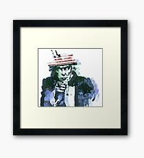 Uncle Sam with Changable background color Framed Print