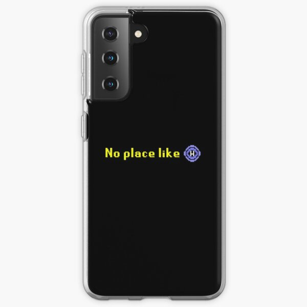 """Old School Runescape """"No Place Like Home"""" Classic Gaming Print Samsung Galaxy Soft Case"""