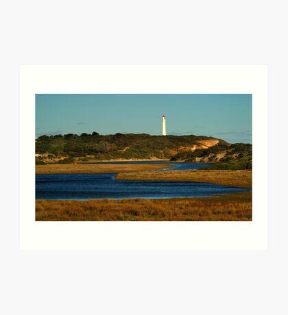 Split Point Lighthouse, Great Ocean Road. Art Print