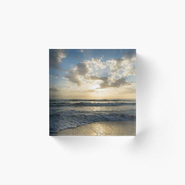 A Glorious Beach Morning Acrylic Block