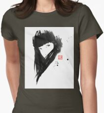 chinese  girl Womens Fitted T-Shirt