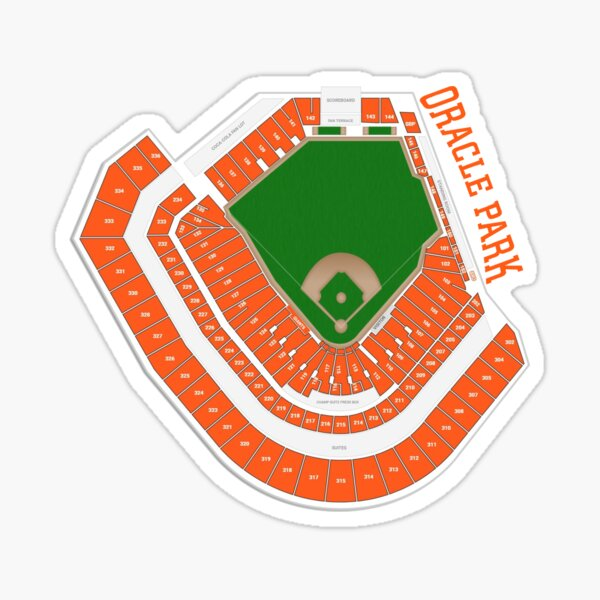 Oracle Park Seating Chart Sticker