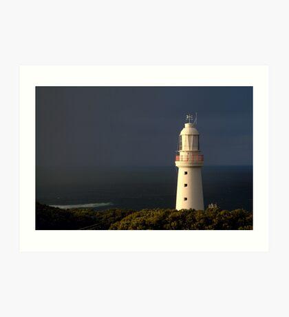 Sunrise Rain, Light Station Cape Otway on Bass Strait Art Print